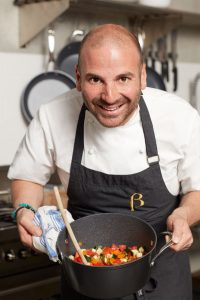 George Calombaris looking a little scary. But wonderful!